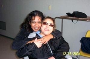 Hermanita Rana y Marjos con Martha